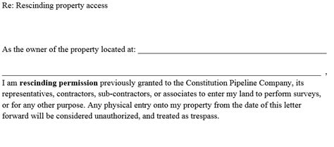 Permission Letter To Use Property Handouts Stop The Pipeline