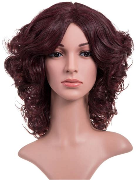 how to style medium bonding hairpiece women s synthetic hair medium length full head curly party