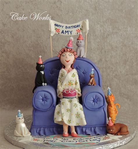 """40Th Birthday """"crazy Cat Lady""""   CakeCentral.com"""