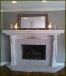 Carrara marble tile fireplace surround home design ideas