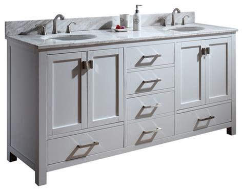 Traditional Bathroom Vanity Units Uk 72 Quot Toscana Sink Vanity White Traditional Bathroom Vanity Units Sink Cabinets