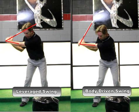 rotary golf swing downswing how much do the arms elevate in the golf backswing