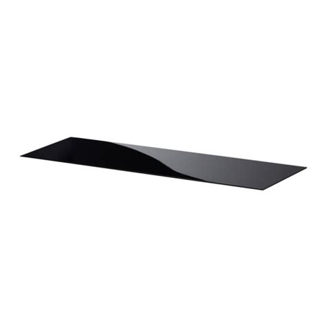 Best 197 Top Panel Glass Black 120x40 Cm Ikea