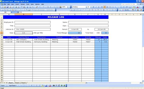 mileage calendar template vehicle log book template excel free qualads