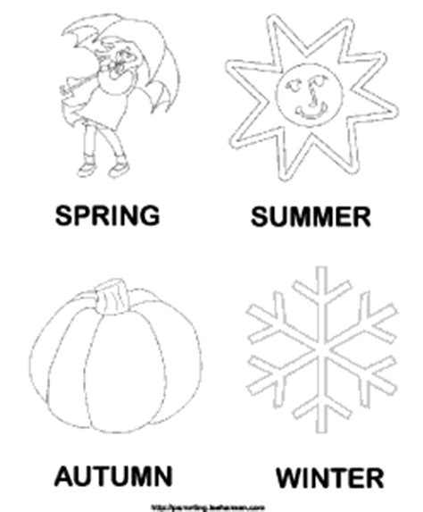 the seasons coloring coloring page