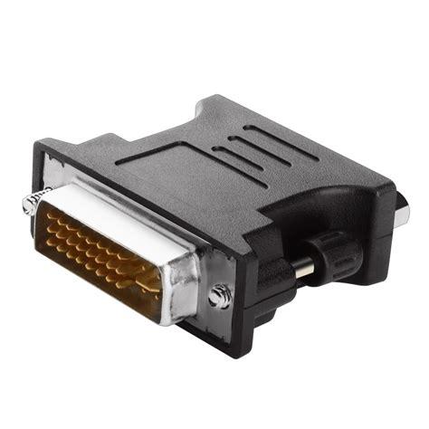 Vga To Dvi Adapter Hitam insten 902558 dvi to vga m f adapter black