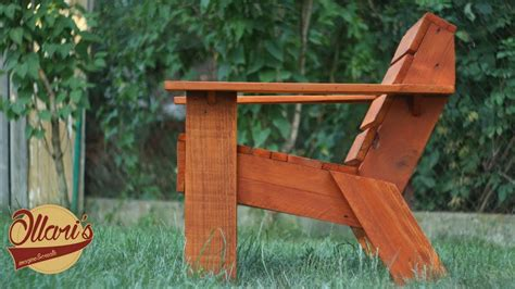 simple outdoor chair  limited tools diy