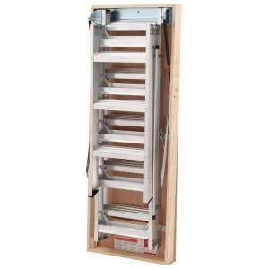 home depot attic ladder werner 12 ft 25 in x 66 in aluminum attic ladder with