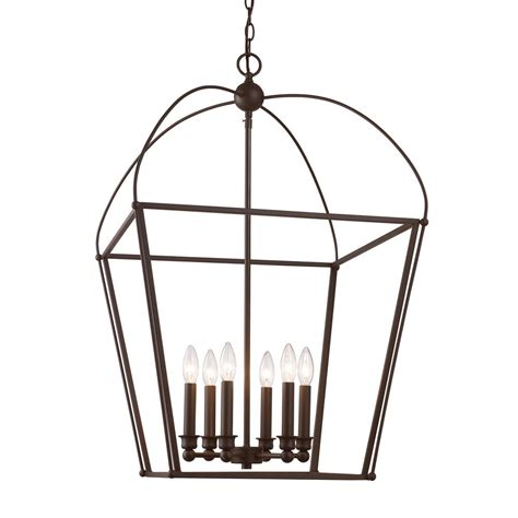 agnew appliance furniture bel air lighting agnew 6 light rubbed bronze pendant