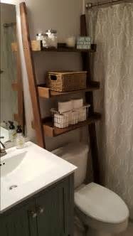 Bathroom Over The Toilet Cabinets by Over The Toilet Ladder Shelf Bathroom Storage Leaning