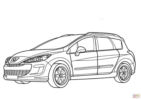peugeot 308 sw coloring page free printable coloring pages