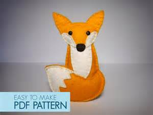 Easy to sew felt pdf pattern diy tania the fox finger puppet