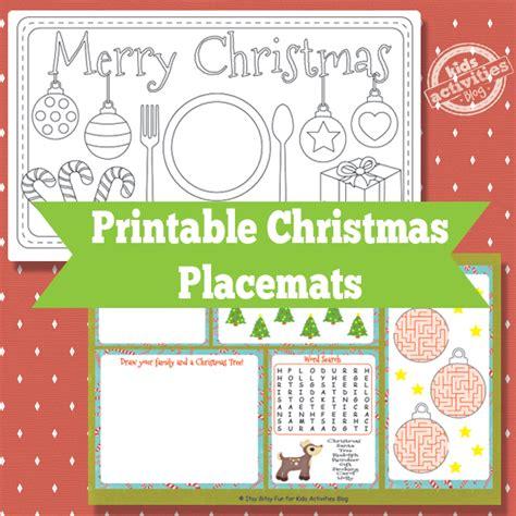 Printable Christmas Placemats | printable christmas placemats free kids printable