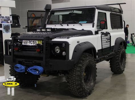 land rover defender 90 lifted russian landrover defender by line x tuning special