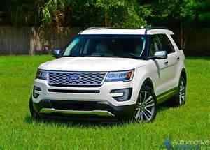 2016 Ford Explorers 2016 Ford Explorer Platinum Awd Review Test Drive