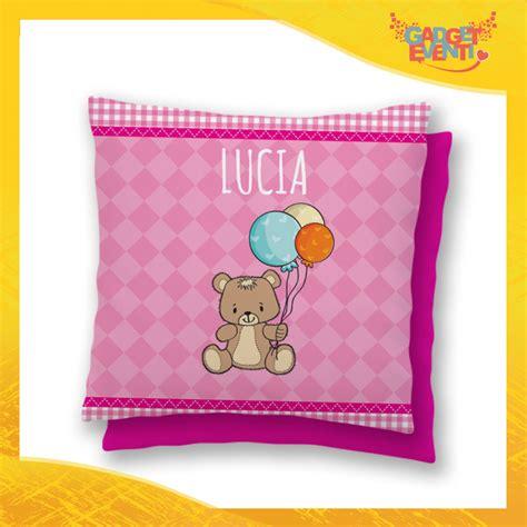 cuscino bimbo cuscino bambino baby con nome personalizzabile quot orsetto