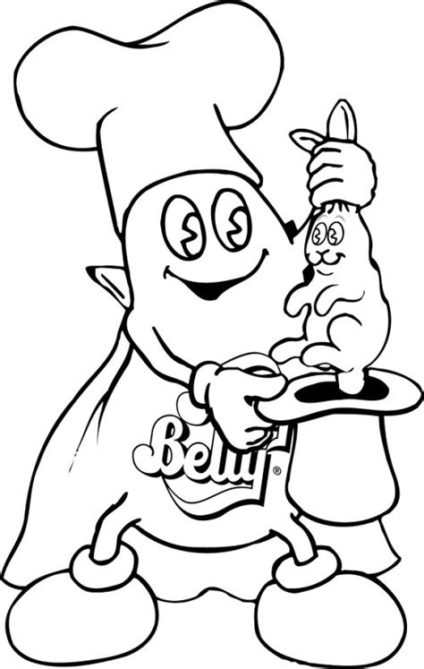 Coloring Page Jelly Belly Candy Company Jelly Bean Coloring Page
