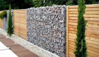 modern wall fence design beautiful fence designs blending various materials for