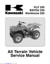 Kawasaki BAYOU 250 Manuals