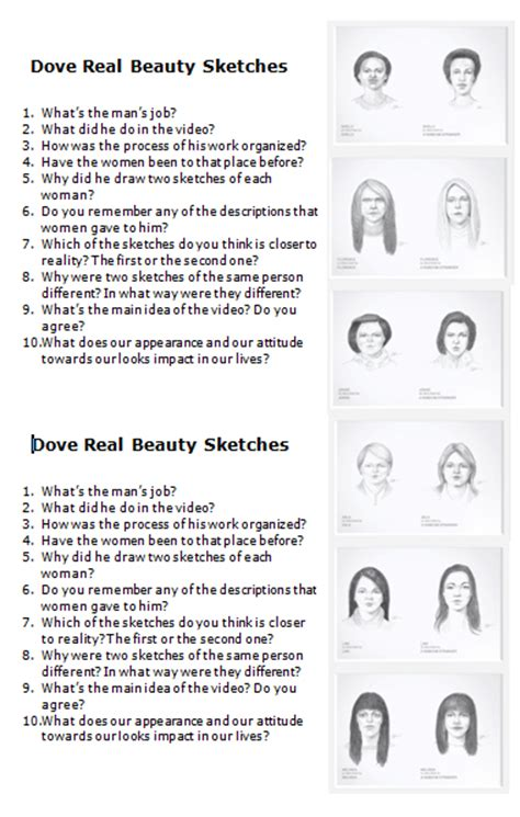 Dove Study Questions Top Ten Mba by Worksheet Dove Real Sketches