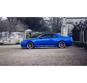 Cars Parking Rims Blue Nissan Skyline GT R R34 Wallpaper