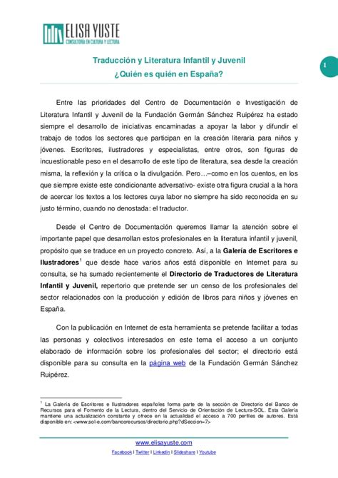 layout traduccion en español traducci 243 n y literatura infantil y juvenil 191 qui 233 n en