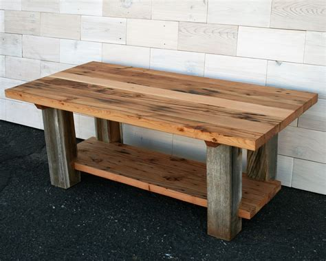 reclaimed barn wood coffee table made reclaimed fir and barn wood coffee table by