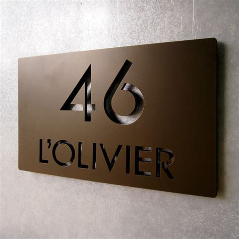 house address plaques address plaques modern house numbers indianapolis by moda industria