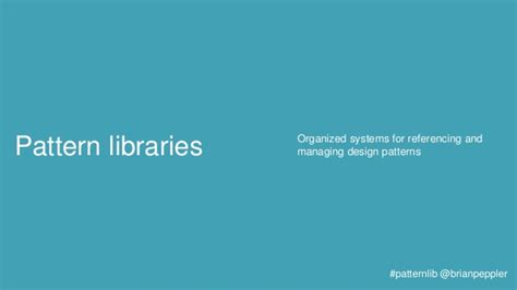 pattern library definition design pattern libraries
