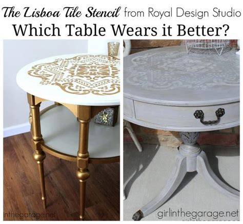 different ways to paint a table paint furniture with stencils choose your own paint color