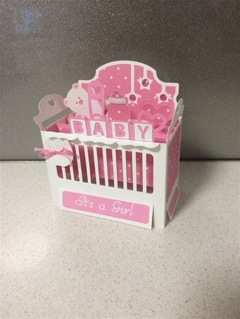 crib card template baby crib cot box card pattern from svg cuts s