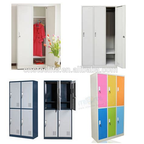 3 door steel locker with hanger for changing room cheap