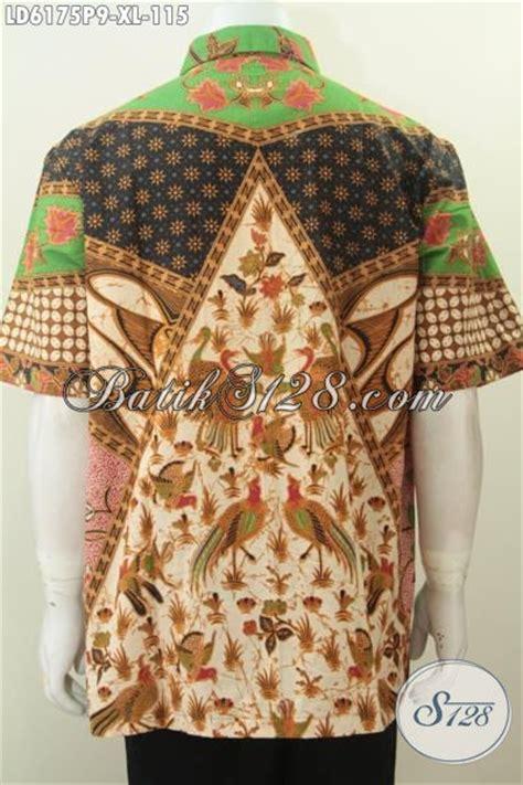 Elegan Pakaian Kemeja Batik Motif Melati pakaian batik jumbo motif sinaran kemeja batik lengan pendek elegan proses printing desain