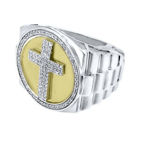 28cttw cross ring 925 silver silver