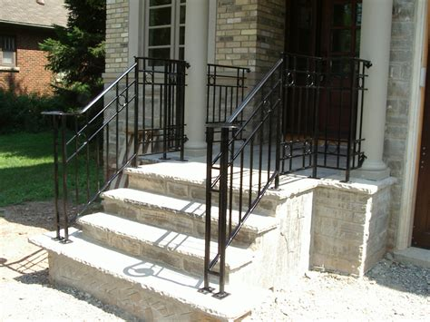 outdoor wrought iron stair railing cost durable outdoor