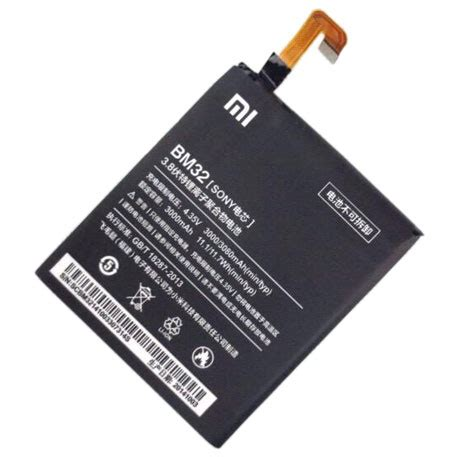 Xiaomi Mi4 Batre Baterai Battery Xiaomi Bm32 Bm 32 Xiaomi Mi4 Original xiaomi mi 4 battery bm32 black specifications photo xiaomi mi