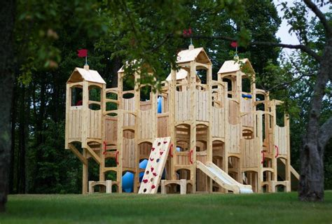 castle swing set plans swing set blueprints frolic 13 wooden playset and swing