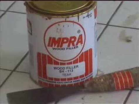 Wood Filler Dempul Kayu Maxi 02 aplikasi impra wood filler