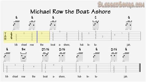 chords for michael row the boat ashore sunday school songs michael row the boat ashore guitar