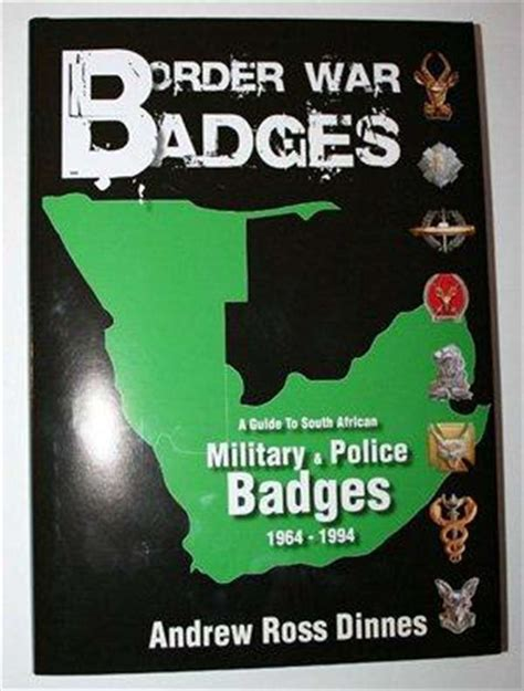 army south books 9189 border war badges by andrew ross dinnes