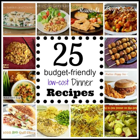 great and easy recipes delicious budget friendly food books 25 budget friendly dinner recipes about a