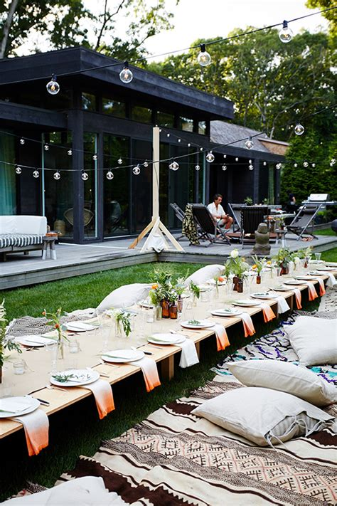 backyard dinner party ideas outdoor entertaining ideas by eye swoon dinner party