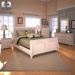 cottage bedroom set ashley cottage retreat sleigh bedroom set 3d model humster3d