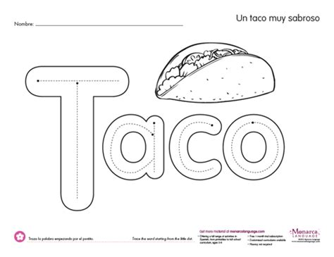 taco template taco shell coloring page coloring coloring pages