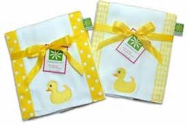 Bibs Set Duck personalized burp cloths and bibs baby gifts shower