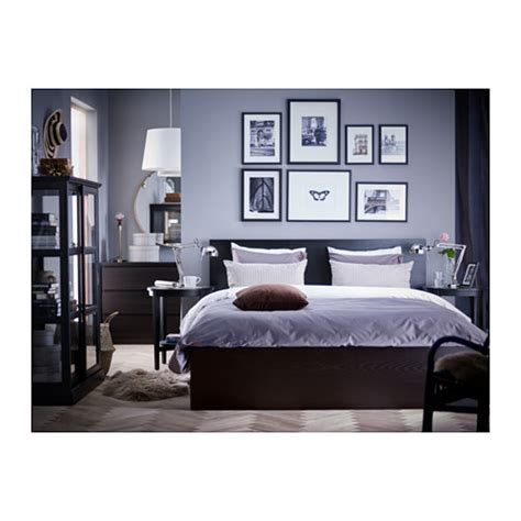 ikea malm bedroom malm bed frame high black brown lur 246 y 140x200 cm ikea