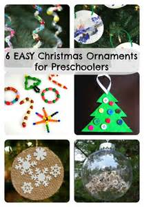 6 easy christmas ornaments for preschoolers to make how