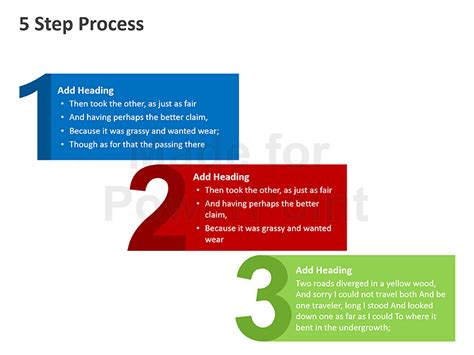 powerpoint tutorial step by step 5 step process powerpoint presentation