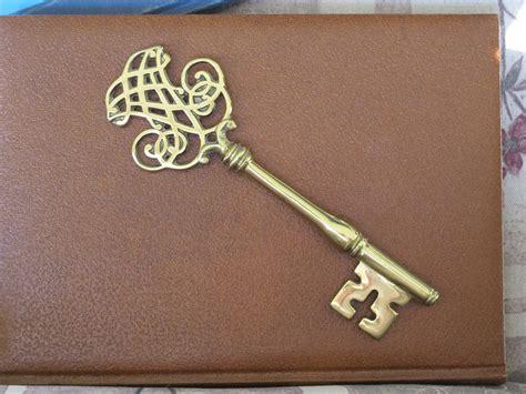 vintage big ornate brass skeleton key virginia by
