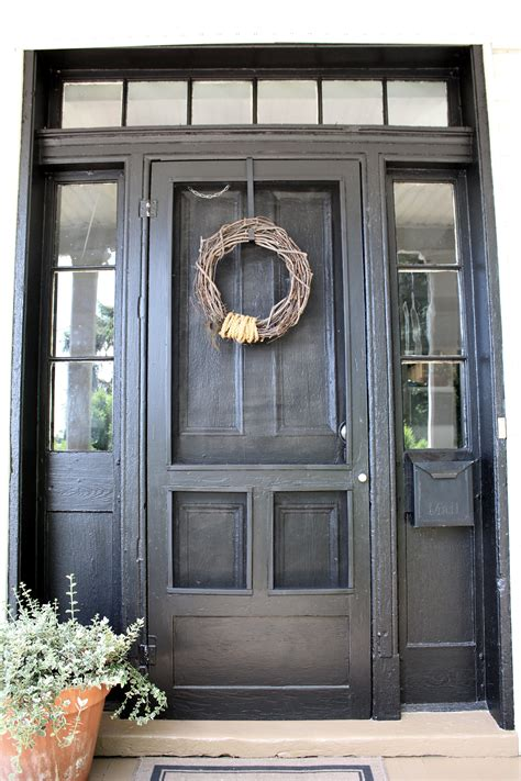 Front Door With Screen Door Back And Black Ricedesigns